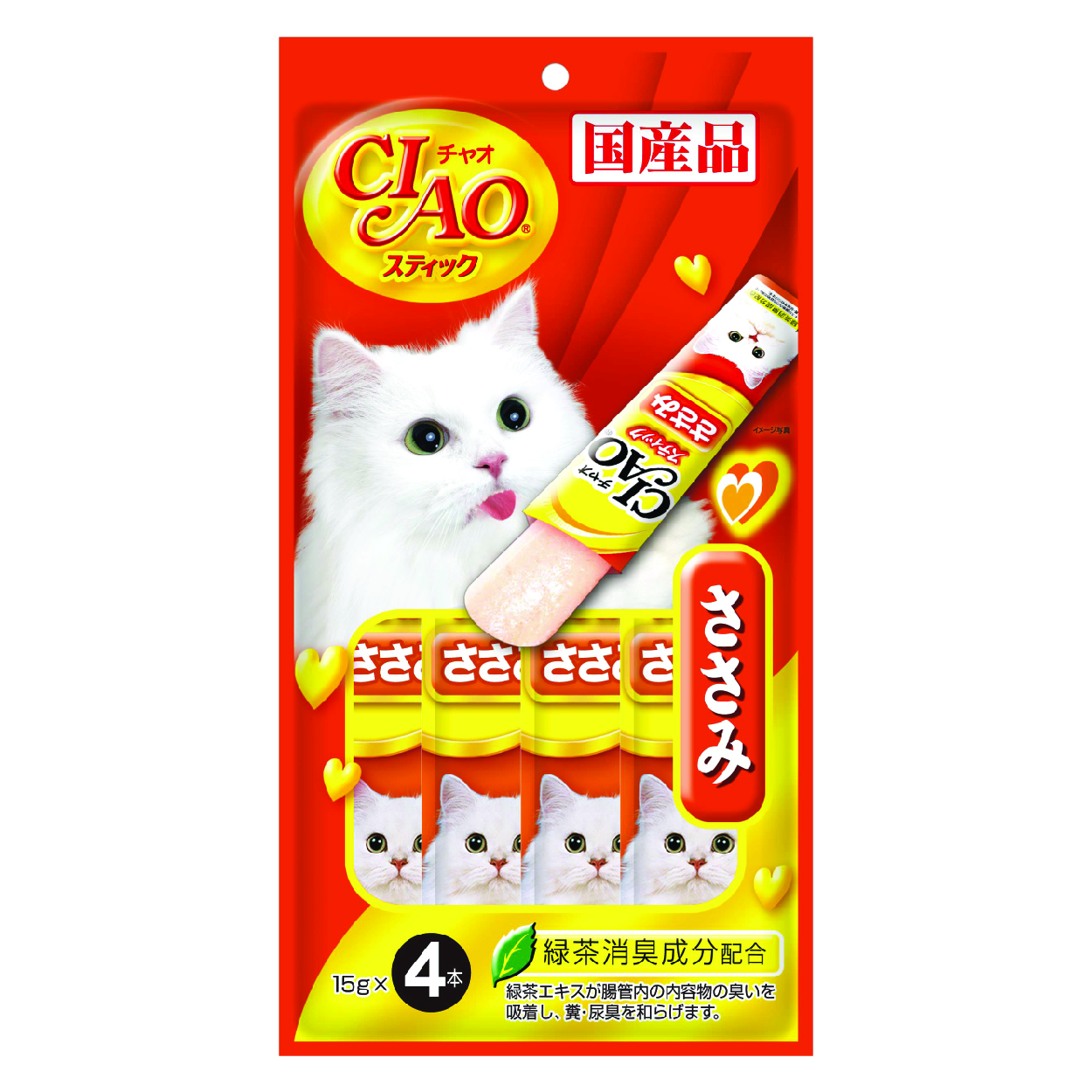 ciao stick chicken fillet in jelly 4x15g   loving pets